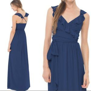 Ceremony by Joanna August Lacey Wrap Maxi Dress XS